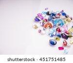 jewel gem on white shine color  ...   Shutterstock . vector #451751485