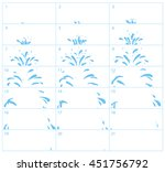 vector water splash sequence... | Shutterstock .eps vector #451756792
