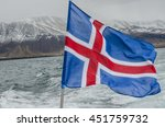 Icelandic Flag On Fishing Boat...