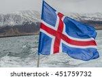 Icelandic Flag On Fishing Boat...