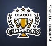 champions league sports logo... | Shutterstock . vector #451760746