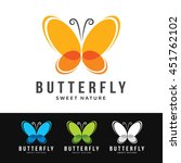 Logo Of A Stylized Butterfly...