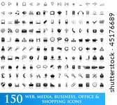 150 web icons | Shutterstock .eps vector #45176689