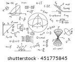 hand drawn physics formulas... | Shutterstock .eps vector #451775845