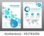 layout flyer template size a4... | Shutterstock .eps vector #451781056