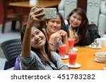 asian friends restaurant | Shutterstock . vector #451783282
