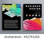 geometric cover background ... | Shutterstock .eps vector #451791202