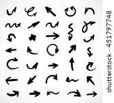 hand drawn arrows  vector set   Shutterstock .eps vector #451797748