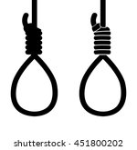 suicide hang rope icon sign | Shutterstock .eps vector #451800202