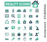 realty icons | Shutterstock .eps vector #451800466