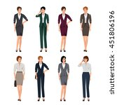 active young women in suits for ... | Shutterstock .eps vector #451806196