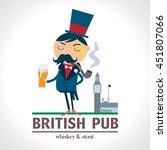 british pub label  gentleman...   Shutterstock .eps vector #451807066