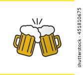 toasting beer glasses color... | Shutterstock .eps vector #451810675