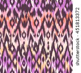 cool ikat pattern design  ... | Shutterstock .eps vector #451813372