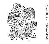 hand drawn doodle outline... | Shutterstock .eps vector #451813912