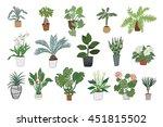 home plants color set | Shutterstock .eps vector #451815502