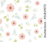 seamless floral pattern. vector ...   Shutterstock .eps vector #451819072