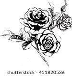 garden roses | Shutterstock .eps vector #451820536