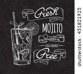 bar menu of cocktail proposal | Shutterstock .eps vector #451821925