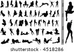 sexy girls. vector silhouette.