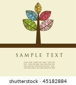 abstract card with multicolored ...   Shutterstock .eps vector #45182884