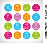 people icons  outline design | Shutterstock .eps vector #451835806