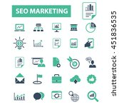 seo marketing icons | Shutterstock .eps vector #451836535