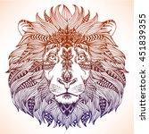 animal head print for adult...   Shutterstock .eps vector #451839355
