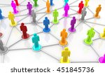 3d rendering network people | Shutterstock . vector #451845736