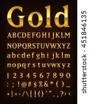 gold letter set    Shutterstock .eps vector #451846135