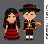 spanish in national dress with... | Shutterstock .eps vector #451859992