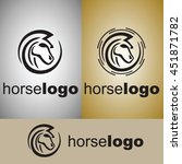 horse logo from wild nature set | Shutterstock .eps vector #451871782