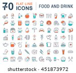 set vector line icons drinks ... | Shutterstock .eps vector #451873972