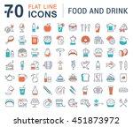 set vector line icons drinks ... | Shutterstock .eps vector #451873972