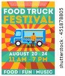 food truck festival flyer or... | Shutterstock .eps vector #451878805