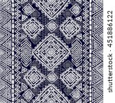 tribal seamless geometric... | Shutterstock .eps vector #451886122
