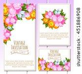 vintage delicate invitation... | Shutterstock . vector #451886908