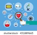 flat design concept for medical ... | Shutterstock .eps vector #451889665