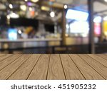 perspective wood with blurred... | Shutterstock . vector #451905232