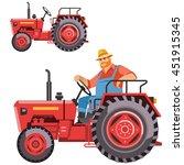 illustration of a farmer... | Shutterstock .eps vector #451915345