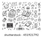 back to school. education items.... | Shutterstock .eps vector #451921792