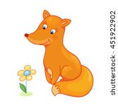 cute fox baby isolated caracter ... | Shutterstock .eps vector #451922902