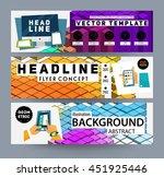 geometric vector background.... | Shutterstock .eps vector #451925446