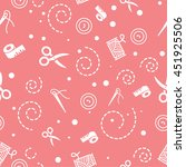 pattern sewing color red   Shutterstock .eps vector #451925506