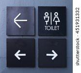 unisex restroom or toilet and... | Shutterstock . vector #451931332