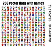 flags of the world  round icons ... | Shutterstock .eps vector #451936372