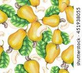 seamless pattern of watercolor... | Shutterstock . vector #451938055