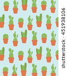 Potted Cactus Plant Pattern...