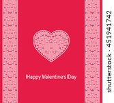 valentine's day love card | Shutterstock .eps vector #451941742