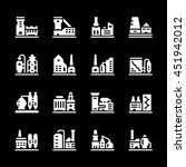 set icons of factory isolated... | Shutterstock . vector #451942012